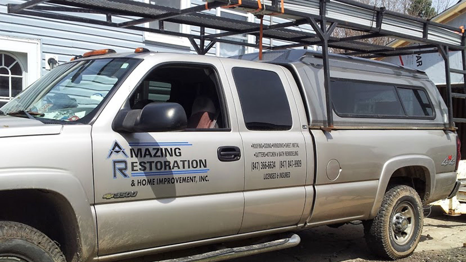 Carpentersville and surrounding areas Amazing Restoration & Home Improvement  Inc Truck
